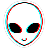 Trippy Alien Sticker