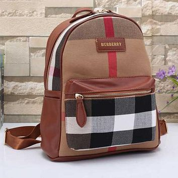 Burberry Women Leather Shoulder Bag Satchel Bookbag Backpack