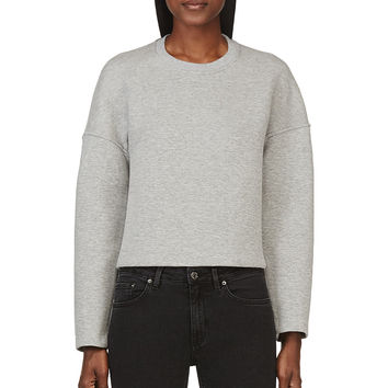 T By Alexander Wang Grey Neoprene Crewneck Sweatshirt