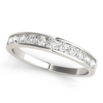 JewelMore™ 1/2ct TDW Diamond Anniversary Band  in 14kWhite Gold, Yellow Gold or Rose Gold (I-J, I2-I3)