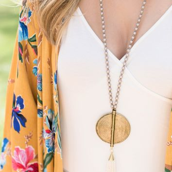The Hartley Necklace, Taupe Cream | BPD