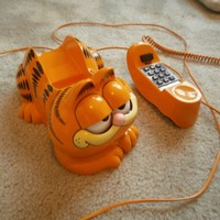 Vintage 80's TYCO GARFIELD Cat TELEPHONE PHONE Model 1207 HONG KONG Works Great