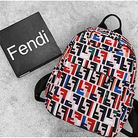 Fendi & Burberry & Givenchy & Dior & Champion & Versace Tide brand men's and women's large-capacity sports and leisure backpack 2#