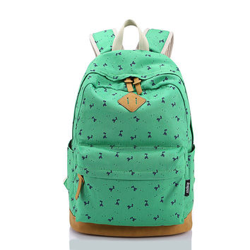 Hot Deal Back To School Comfort On Sale College Korean Style Stylish Canvas Casual Backpack [6304977732]