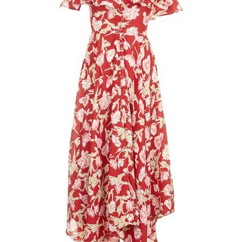 Hanky Hem Floral Dress - Dresses - Clothing