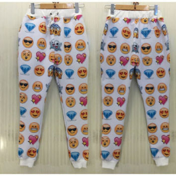 Emoji Diamonds/Smileys Joggers