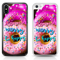 Donut Worry be Happy Candy Muffin Cake Sweet Cover Case for iPhone Samsung iPod | eBay