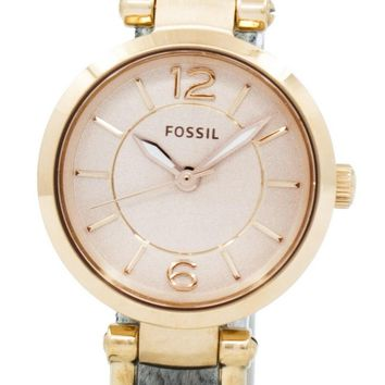 Fossil Georgia Rose Dial Grey Leather ES3862 Women's Watch