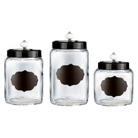 American Atelier Glass Canister Set of 3
