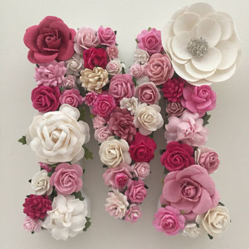 Custom Floral Letters, Baby Nursery, Flower Letters, Baby Girl Nursery Decor, Wall Decor Nursery, Floral Decor, Flower Name, Girl Wall Decor