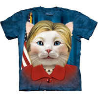 Hillary Clinton For President 2016 Election T-Shirt Democratic Party Funny Cat