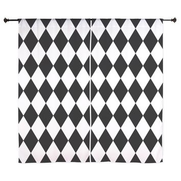 BLACK AND WHITE LIQUORICE PATTERN CURTAINS