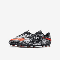 The Nike Jr. Hypervenom Phelon II Neymar (10c-6y) Kids' Firm-Ground Soccer Cleat.