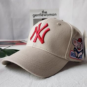NY Women Men Sport Sunhat Embroidery Baseball Cap Hat