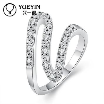 Trendy Round Style Silver Rings