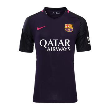 Barcelona 2016/17 Away Men Soccer Jersey (With QATAR AIRWAYS ) Personalized Name and N
