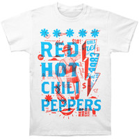 Red Hot Chili Peppers Men's  Multiply T-shirt White Rockabilia
