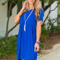 Playful Playlist Dress, Royal Blue