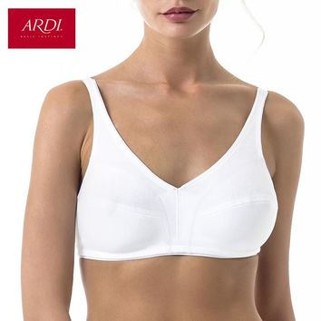 Woman's Wireless Sport Bra with Soft Cup for Cotton White Black