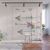 Follow Your Heart Wall Mural by sm0w