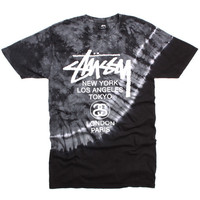 World Tour Tie Dye T-Shirt Grey