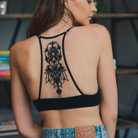 Tattoo You Mesh Bralette