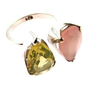 Double Drop Gemstone Ring