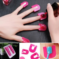 26pcs Stickers For Nails Polish Protector Holder Manicure Finger Nail Art Design Tips Cover Tools UV Gel Nails Painting Fench