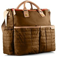 Diaper Bag  with Matching Changing Pad - Stylish Designer Tote for Moms - for Baby Boys and Girls