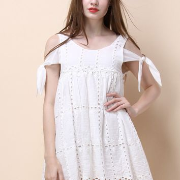 Endearing Dolly Dress with Cutout Details