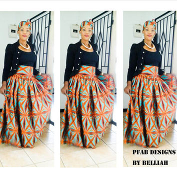 PRICE REDUCED 10% off, Custom Order Listing Authentic African Milly Style , Ankara, Vlisco Holland High Waist or Short Skirts. Order To Make