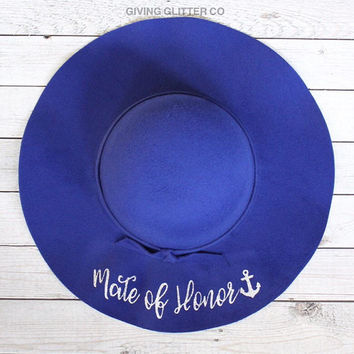 Mate Of Honor // Floppy Hat - Nautical Bachelorette Party - Cruise Bachelorette Party - Yacht Bachelorette Party