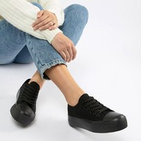New Look Basic Lace Up Trainer at asos.com