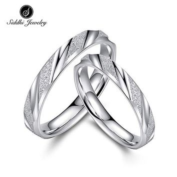 Siddhi Fashion 925 Sterling Silver Rin Engagement Rings Jewelry for Women Men Great Gift for Girl Friend
