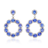 Tanzanite Hoop Earrings | Moda Operandi