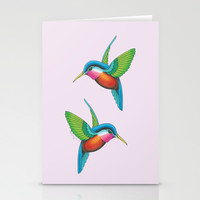 Hummingbirds Stationery Cards by haleyivers