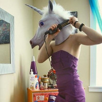 Unicorn Mask Cosplay Prop For Fancy Ball Party Show