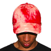 Vintage Culture Red Bleached Washed Distressed Dad Cap