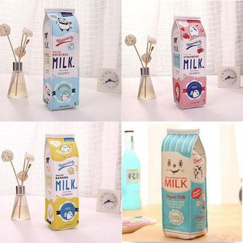 VOND4H Cartoon Milk bottle school pencil case