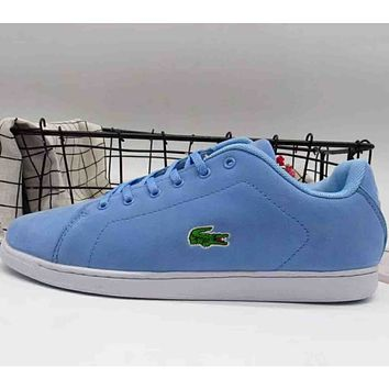 2c2f8bcf2e2336 Lacoste 2018 men s and women s fashion brand casual sports shoes