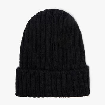 BEAMS PLUS / B+Wool Watch Cap in Black