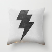 lightning strike Throw Pillow by Vin Zzep