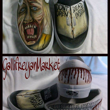 Custom Hand Painted Vans inspired by The Walking Dead