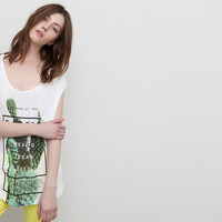 BACKLESS TOP CACTUS PRINT - T-SHIRTS AND TOPS - WOMAN - PULL&BEAR United Kingdom