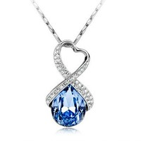 Sparking Rhinstone Love Necklace