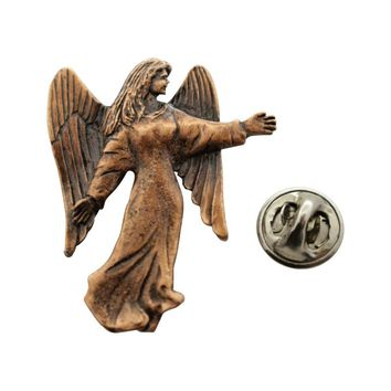 Angel Pin ~ Antiqued Copper ~ Lapel Pin
