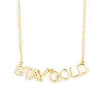 party banner necklace - stay gold