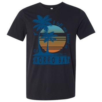 Morro Bay Palm Trees Asst Colors Mens Lightweight Fitted T-Shirt/tee