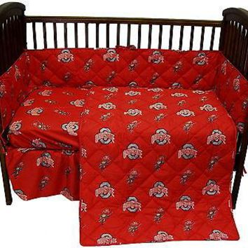 Ohio State Buckeyes Baby Crib Set