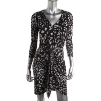 BCBG Max Azria Womens Printed Knee-Length Wear to Work Dress